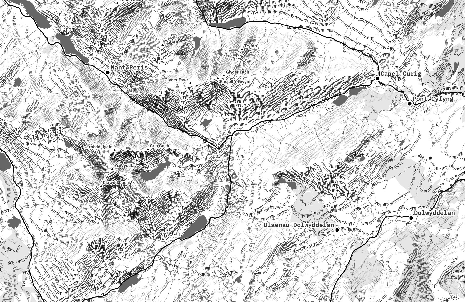 I recently fell down a very deep monochrome-shaped rabbit hole during my search for a cartographic style for this website. Part of that rabbit hole fa